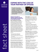 Thumbnail of the PDF version of Coping with the Loss of Your Partner or Spouse